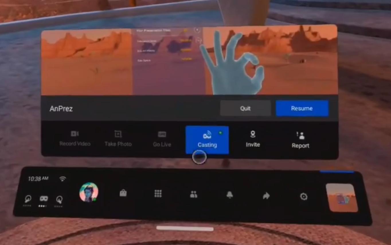 Oculus app paused
